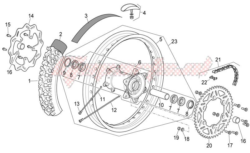Rear wheel I image
