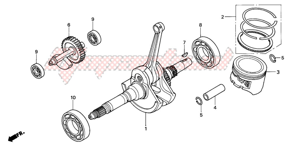 -CRANK SHAFT/PISTON