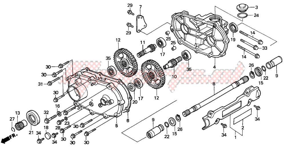 -FRONT DRIVESHAFT (TRX300FW)