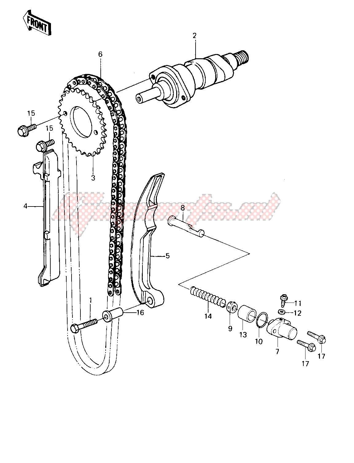 Engine-CAMSHAFT_CHAIN_TENSIONER -- 81-82 KLT200-A1_A2_A3- -