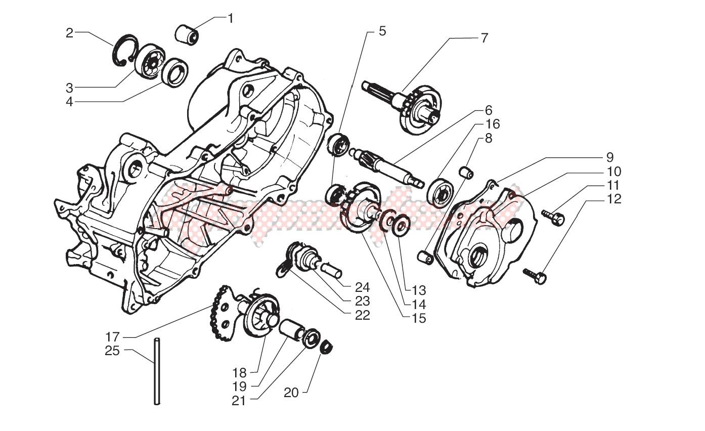 Rear wheel axle image