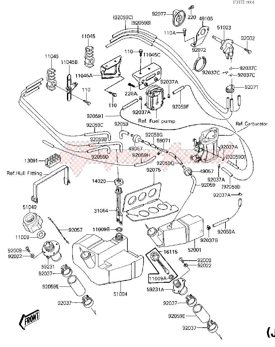 FUEL TANK_OIL TANK -- JF650-A1- - image