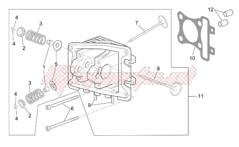 Cylinder head - valves image