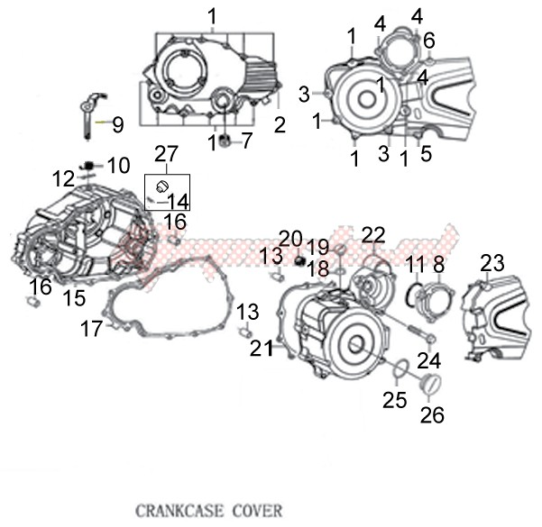 Engine-Crankcase cover