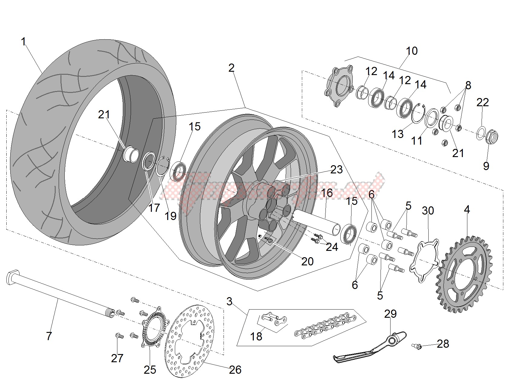 Wheels-Rear wheel