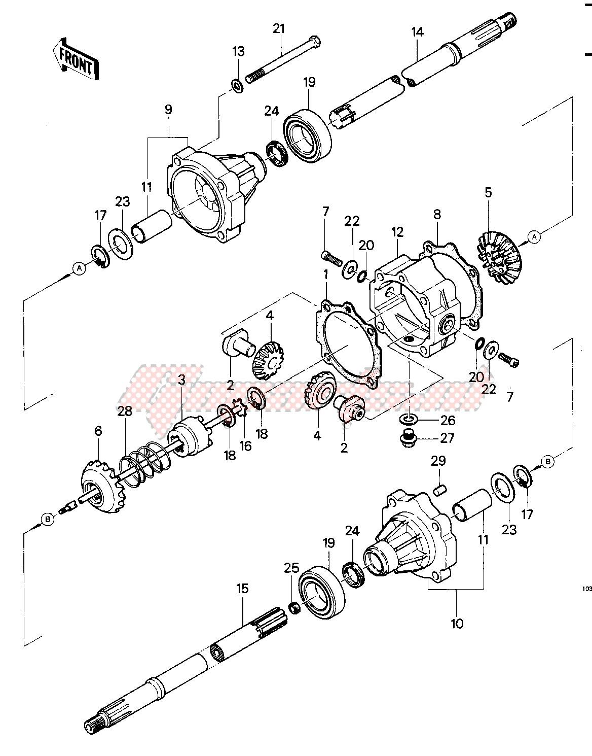 REAR AXLE -- 83 KLT200-C1- - image