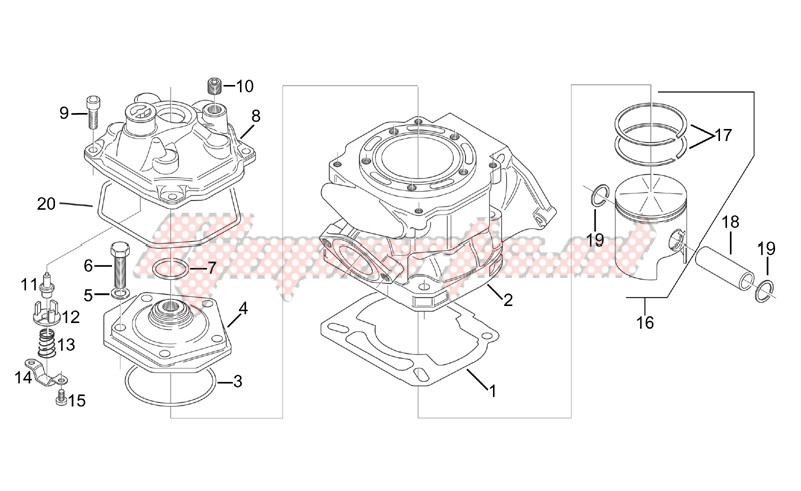Engine-Cylinder - Head - Piston
