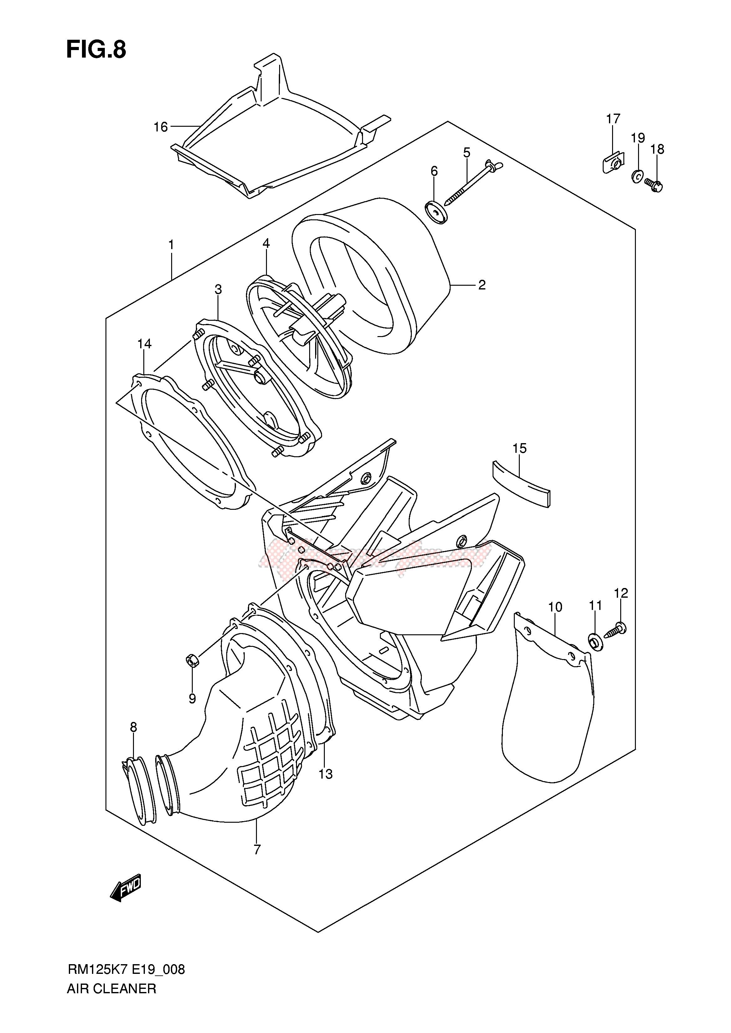 AIR CLEANER blueprint