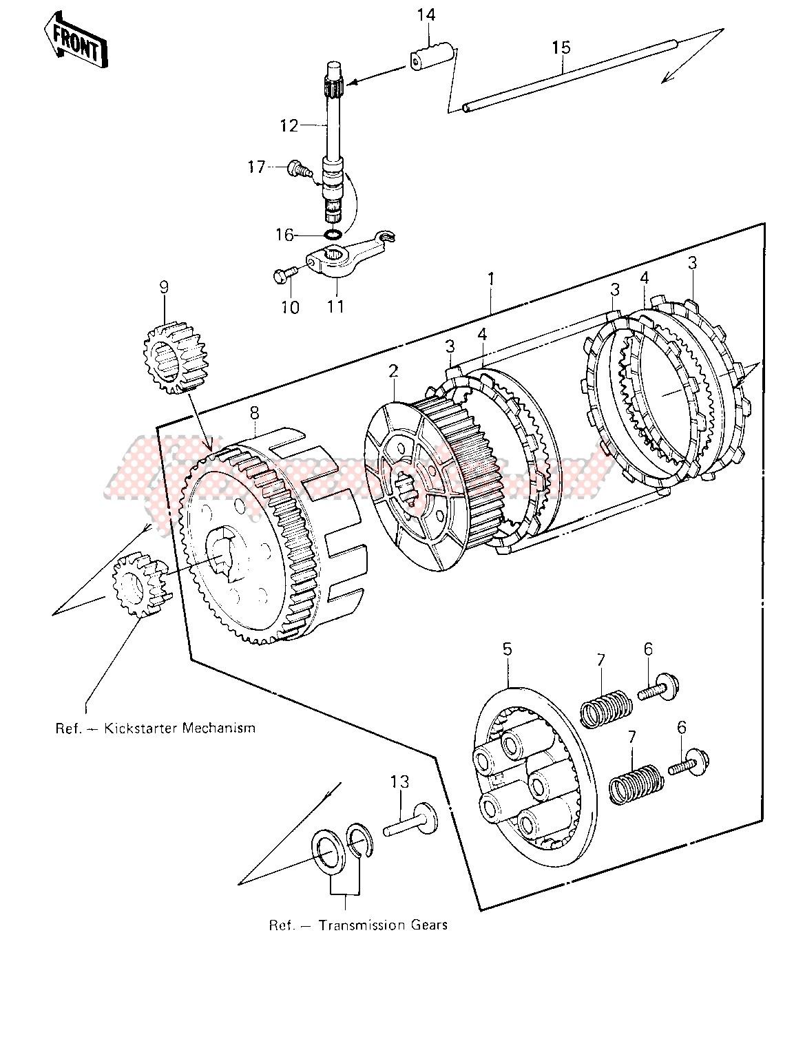 CLUTCH -- 81-82 KLT200-A1_A2_A3- - image