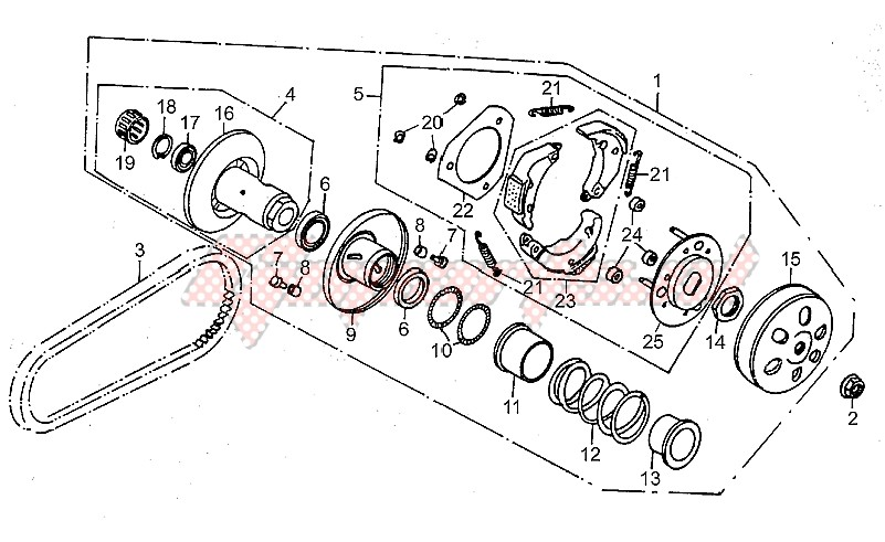 Speed variator with clutch image