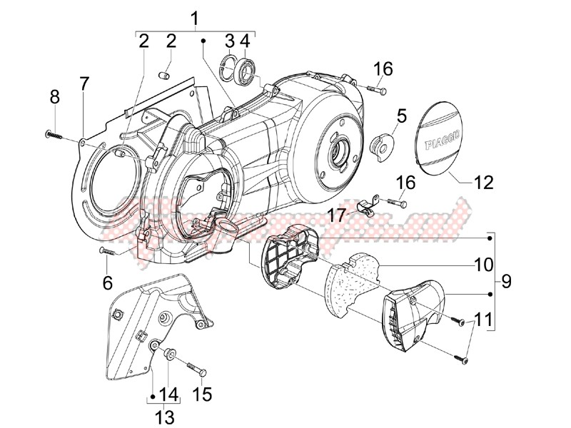 Engine-Crankcase cover - Crankcase cooling