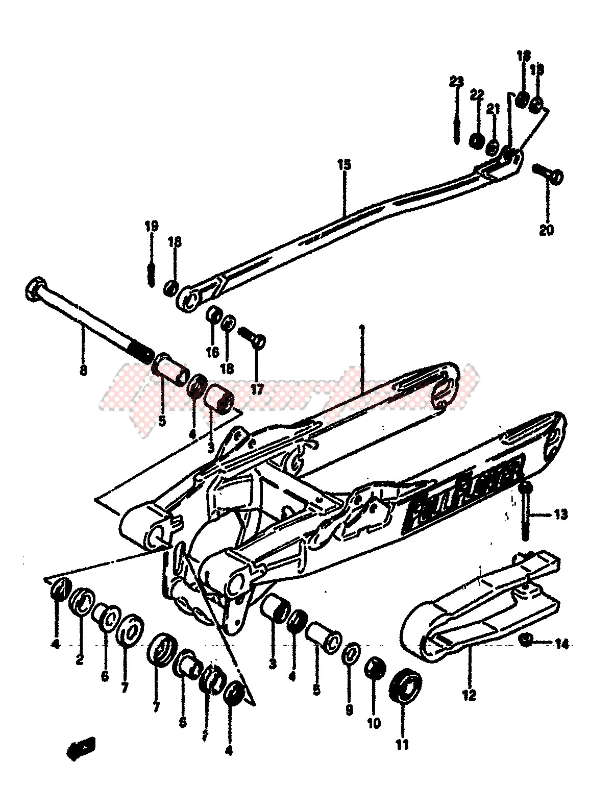 REAR SWINGING ARM blueprint