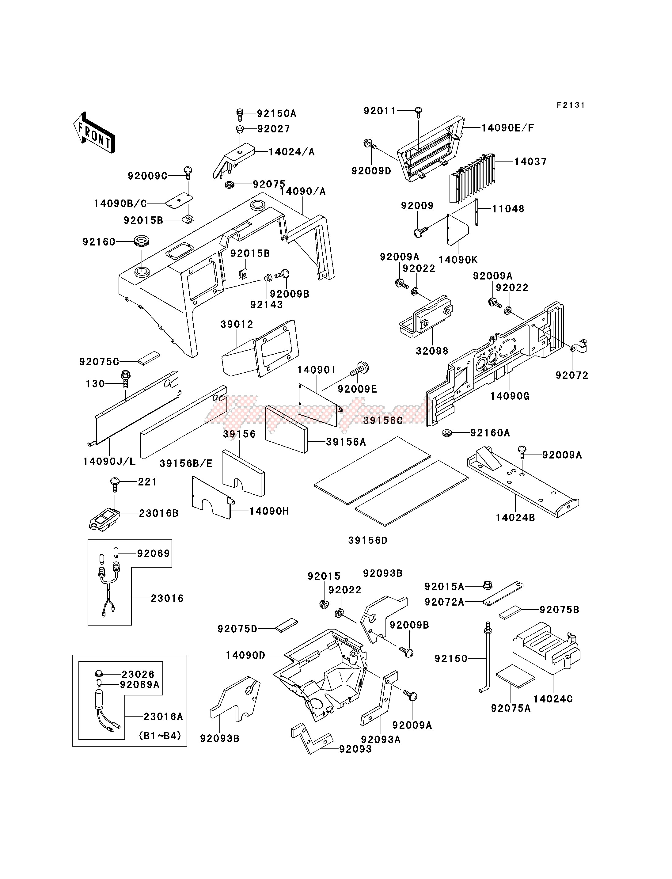 Frame-FRAME FITTINGS -- COVER- -