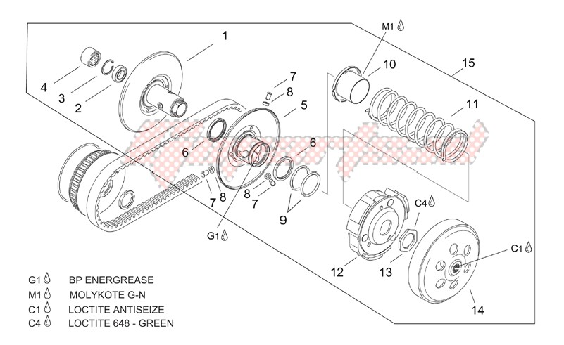 Engine-Pulley assy. driven