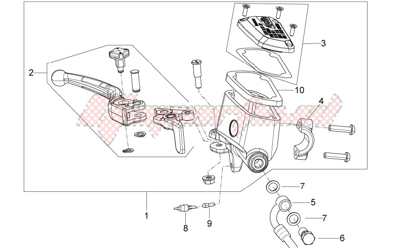 Front master brake cilinder image