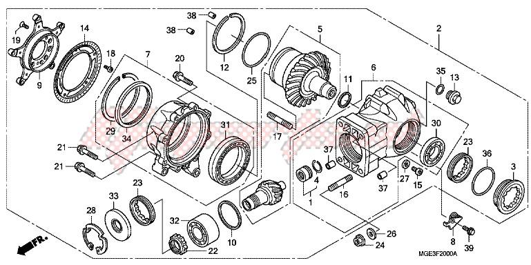 FINAL DRIVEN GEAR blueprint