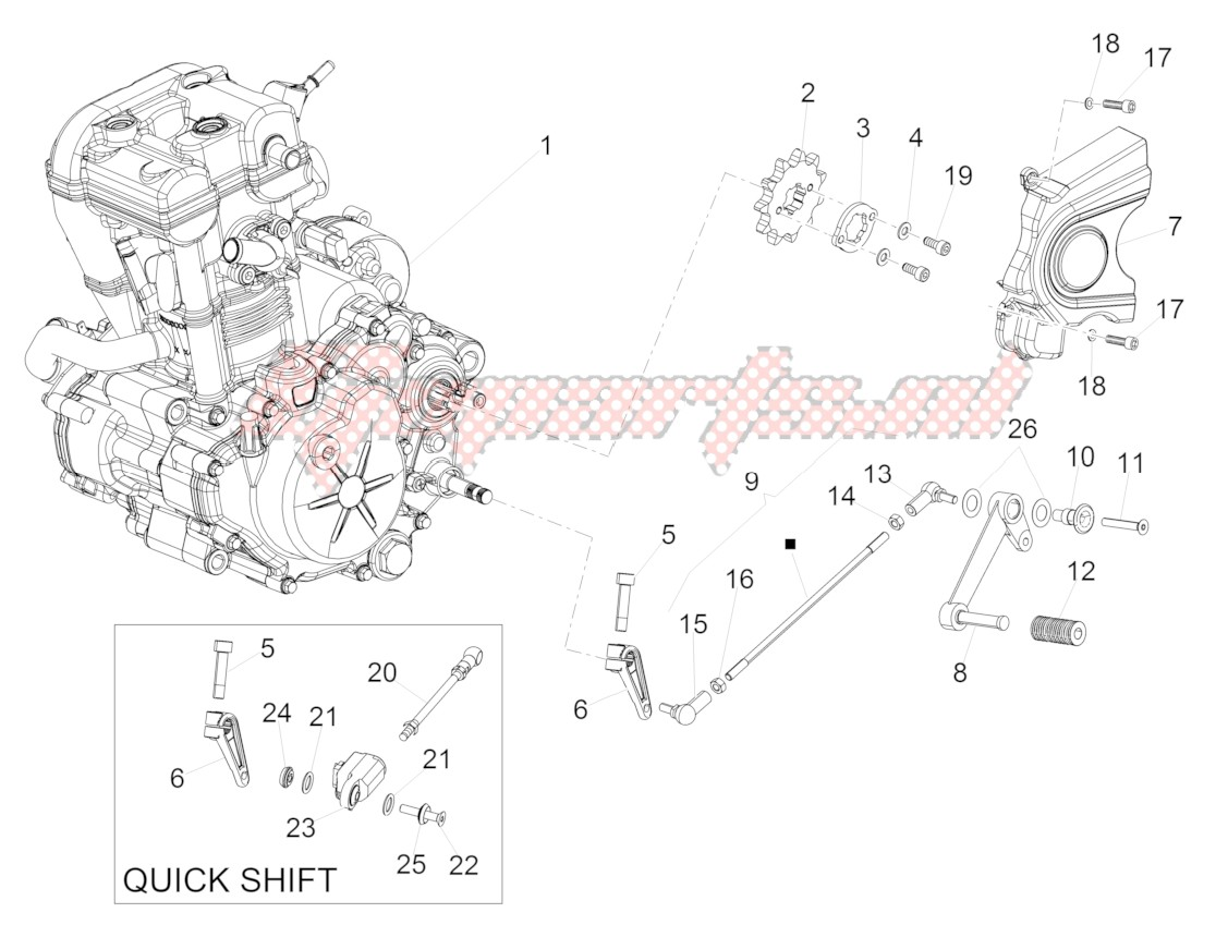 Engine-Engine-Completing part-Lever