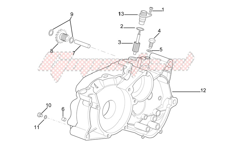 Engine-Left crankcase