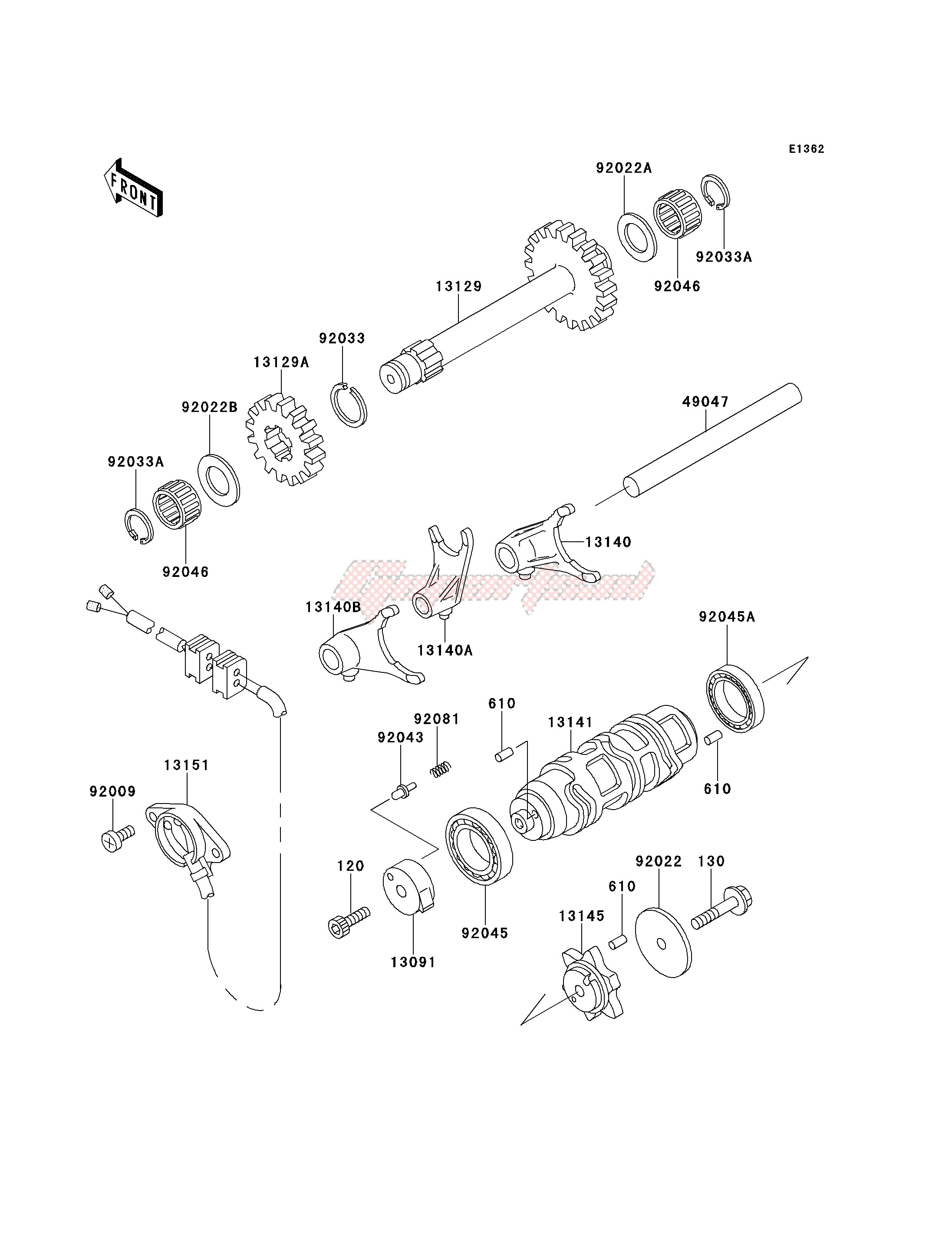 GEAR CHANGE DRUM_SHIFT FORK-- S- - image