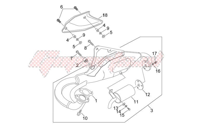 Frame-Normal exhaust unit