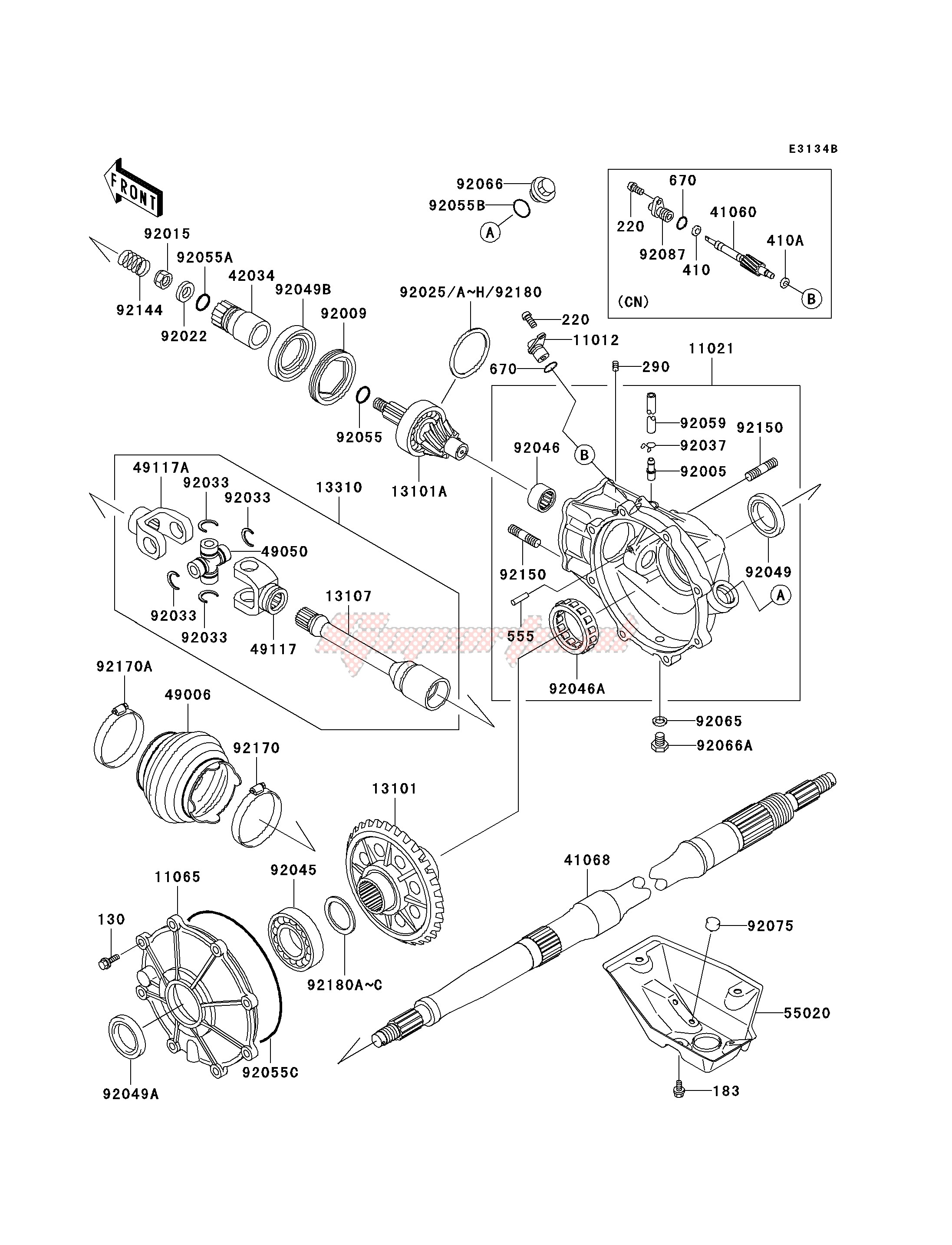 Frame-DRIVE SHAFT -- REAR- -