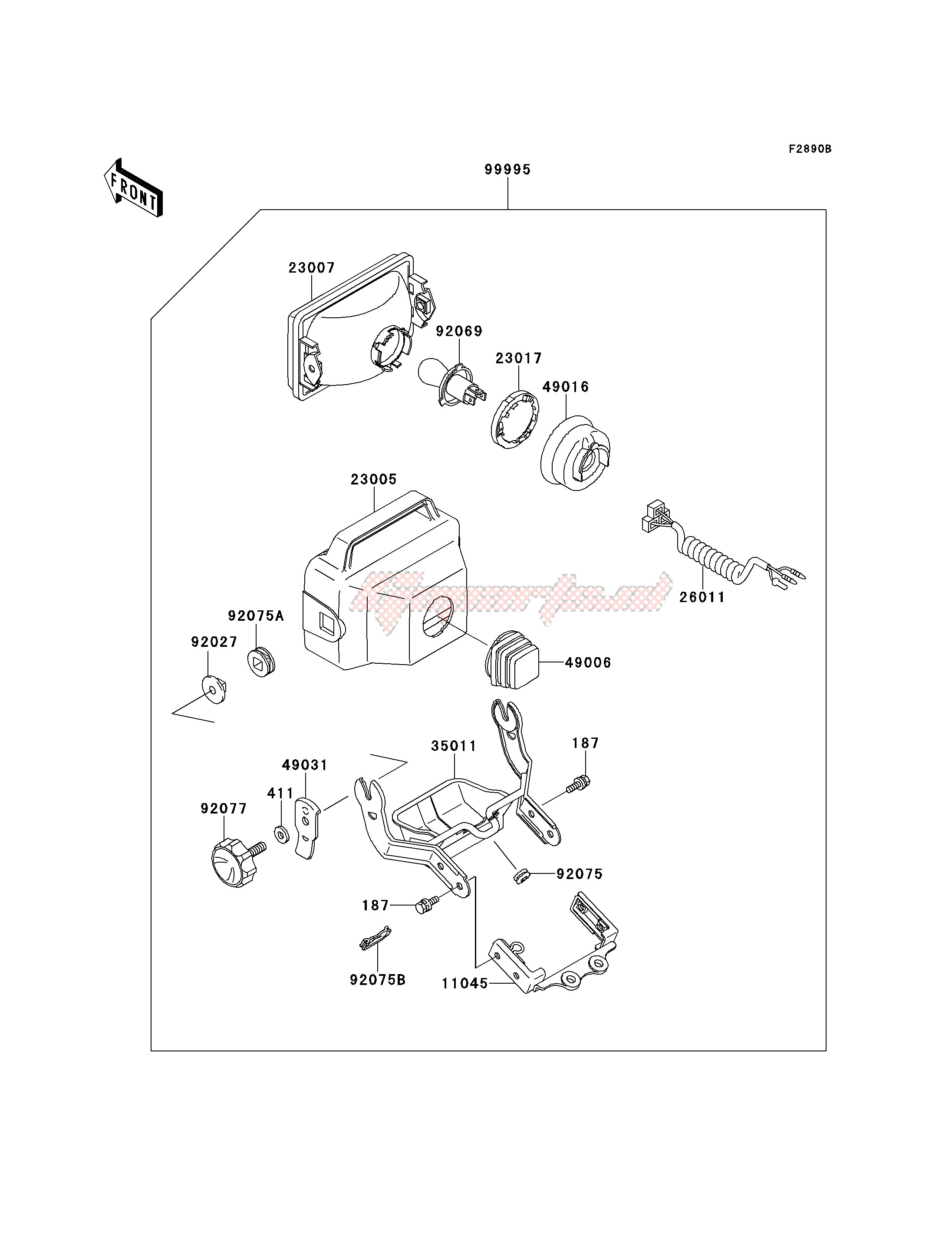 OPTIONAL PARTS-- HEADLIGHT- - image