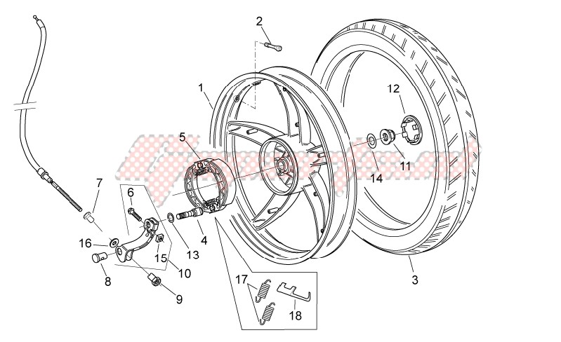 Rear wheel - disc brake image
