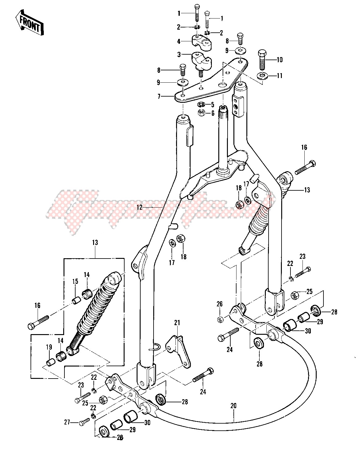 FRONT FORK -- 82 A1- - image
