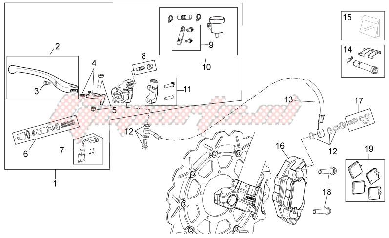 Front brake system II image