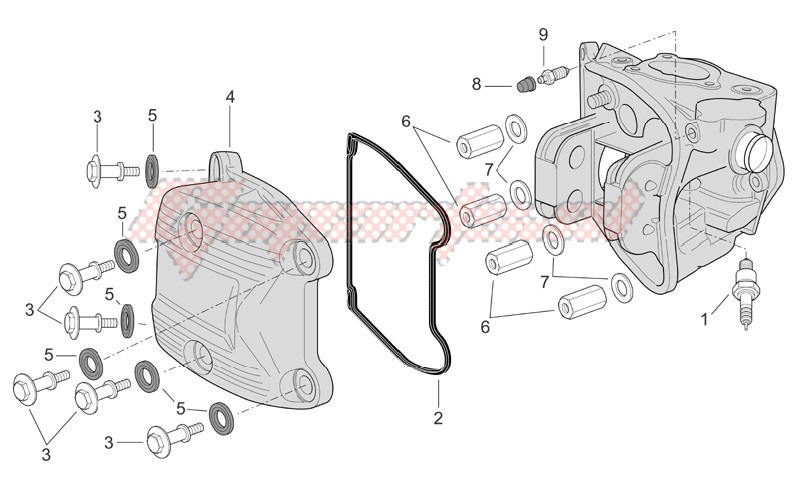 Engine-Head cover (Ext.Thermostat)