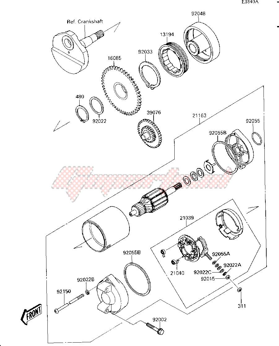 STARTER MOTOR-- JS300-A2- - image