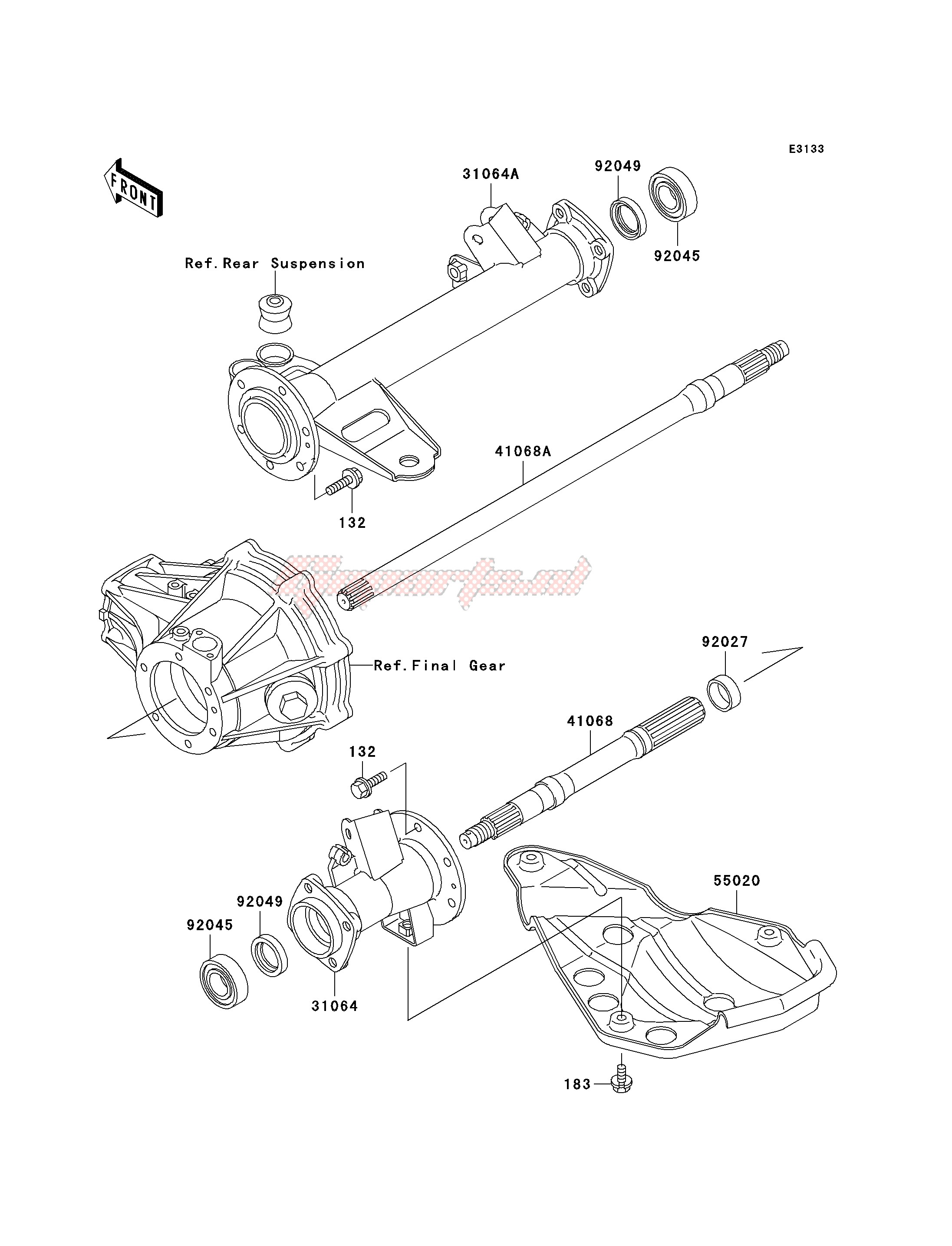 Frame-REAR AXLE
