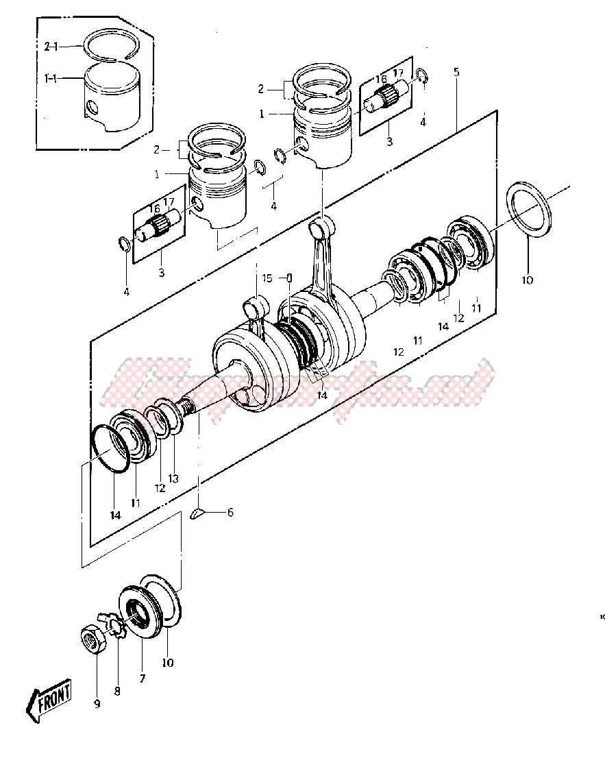 CRANKSHAFT_PISTONS -- 77-78 A1_A1A_A2- - image