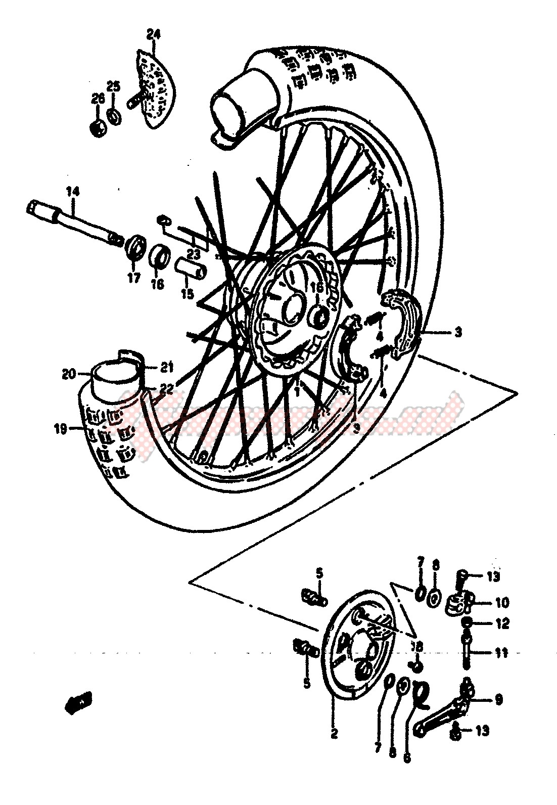 FRONT WHEEL (MODEL E) image