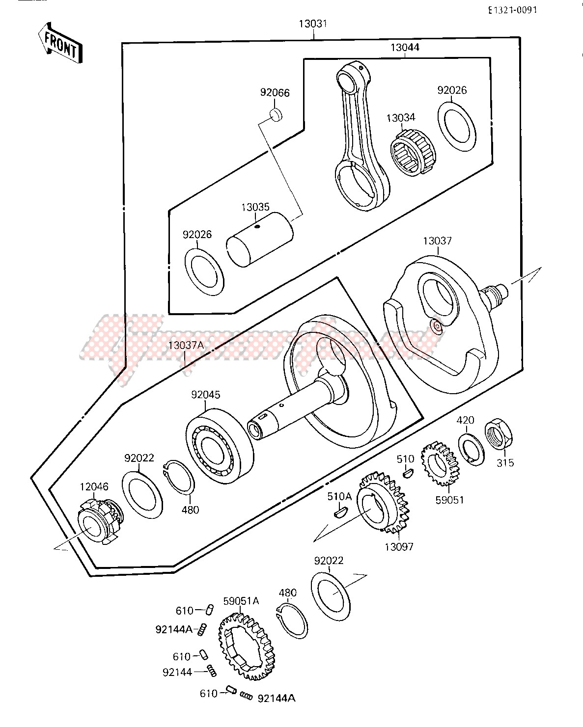 Engine-CRANKSHAFT -- From no. 010528- -