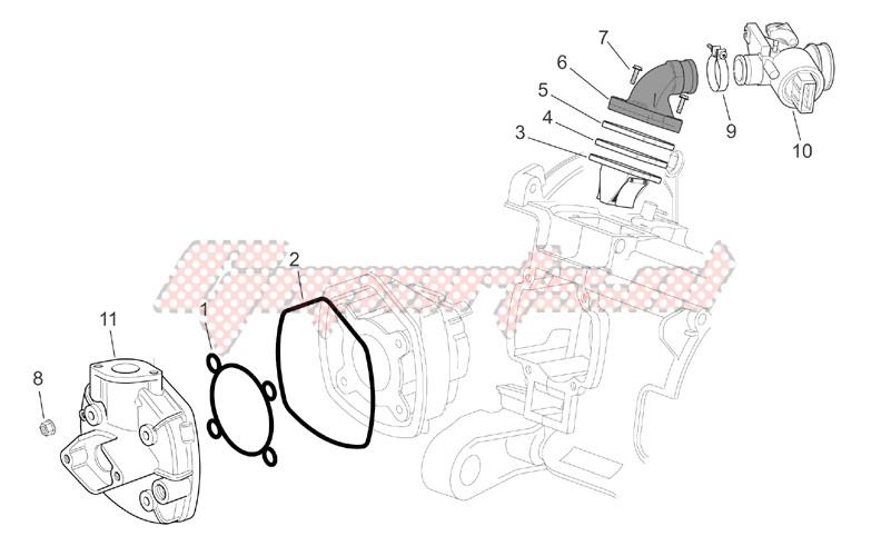 Cylinder head - Throttle body image