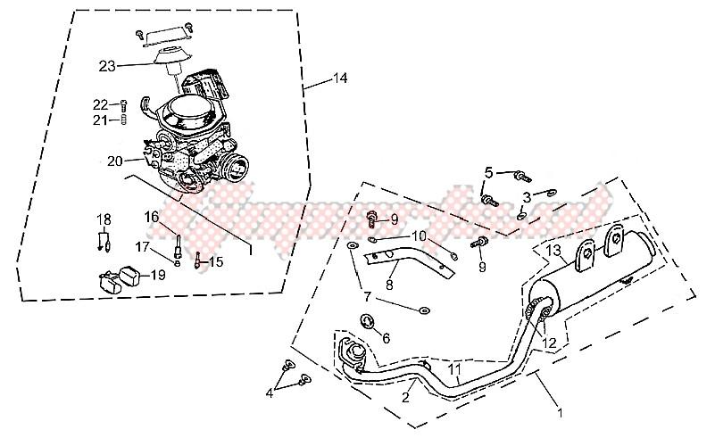 Exhaust unit - Carburettor image
