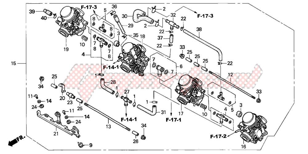 CARBURETOR (ASSY.) (2) blueprint