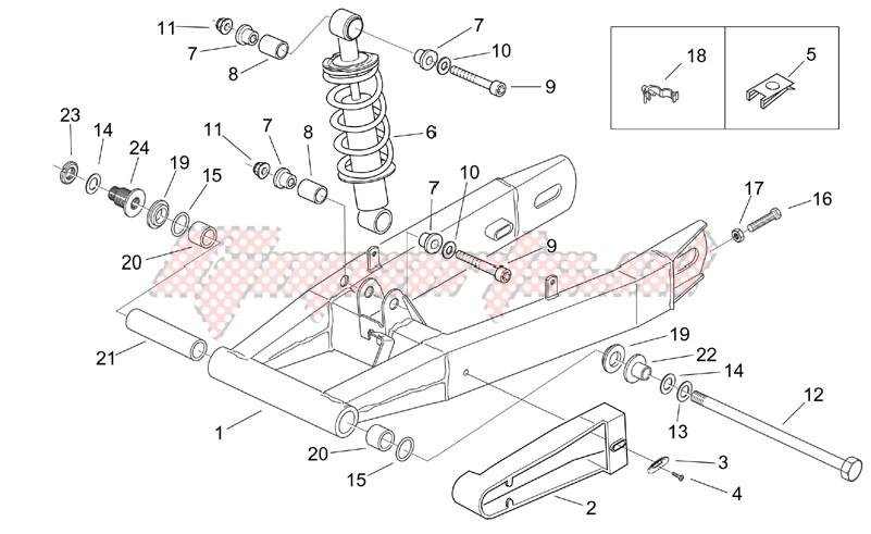Swing arm - Shock absorber image