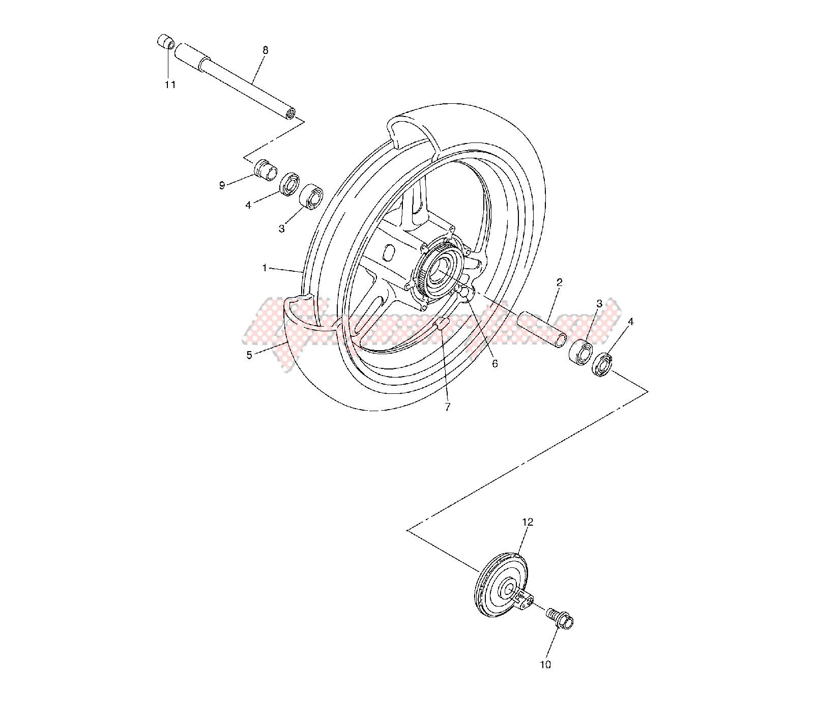 FRONT WHEEL blueprint