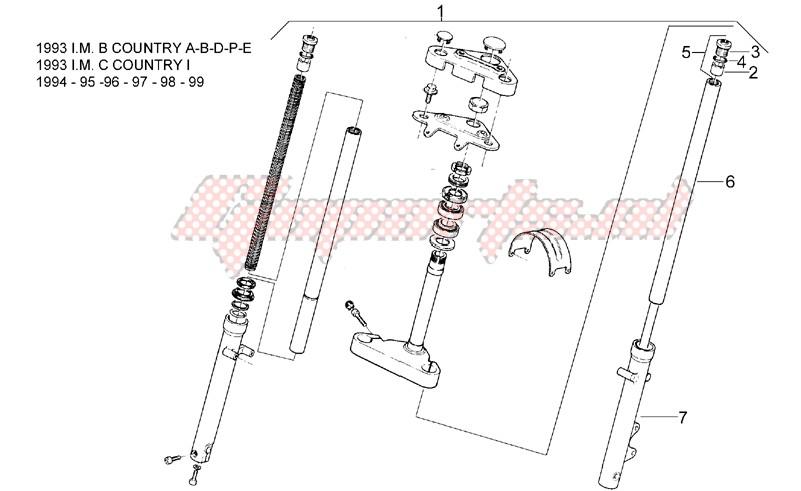 Front fork 93-99 - LH Sleeve image