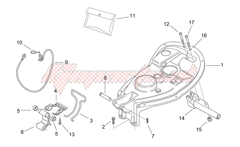 Rear body II - Seat components image