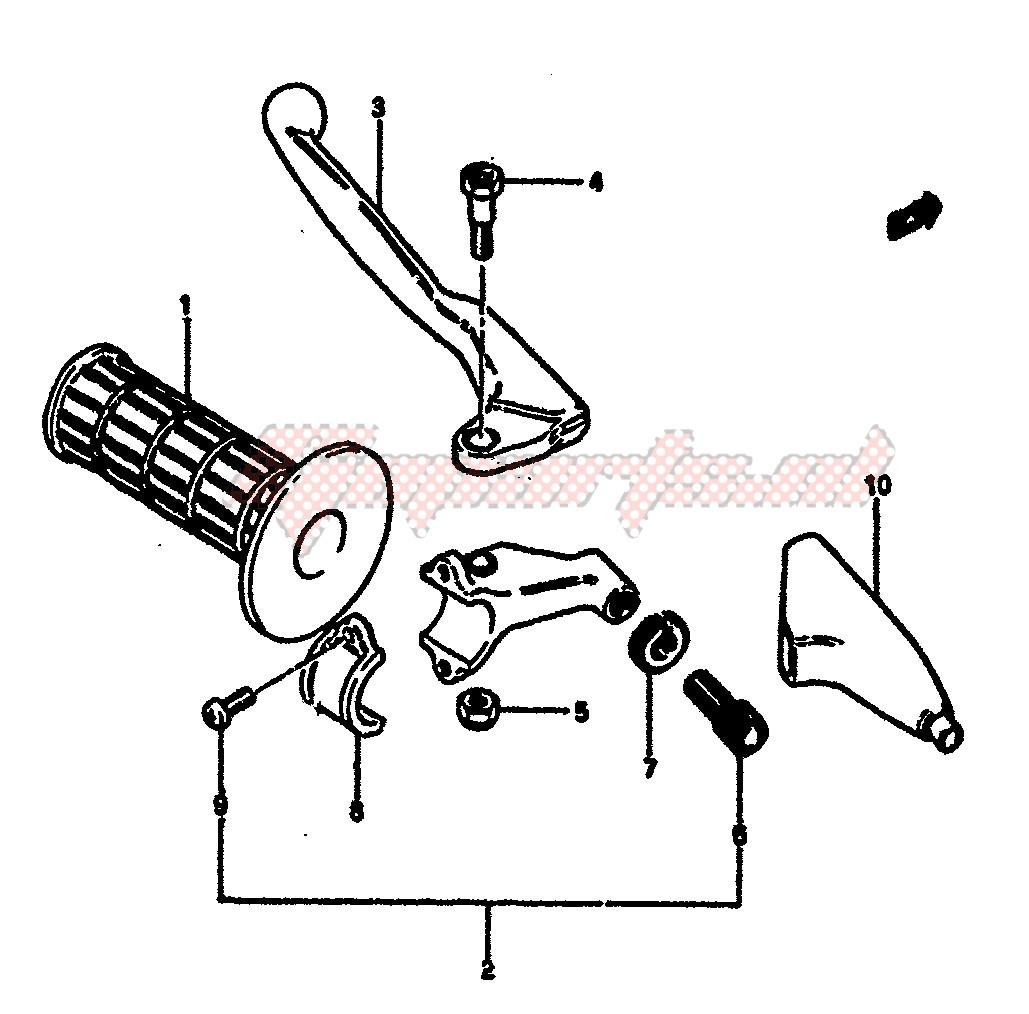 LEFT HANDLE SWITCH (MODEL E) blueprint