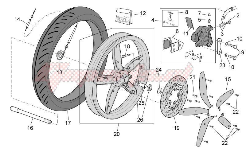 Front wheel - disc brake image