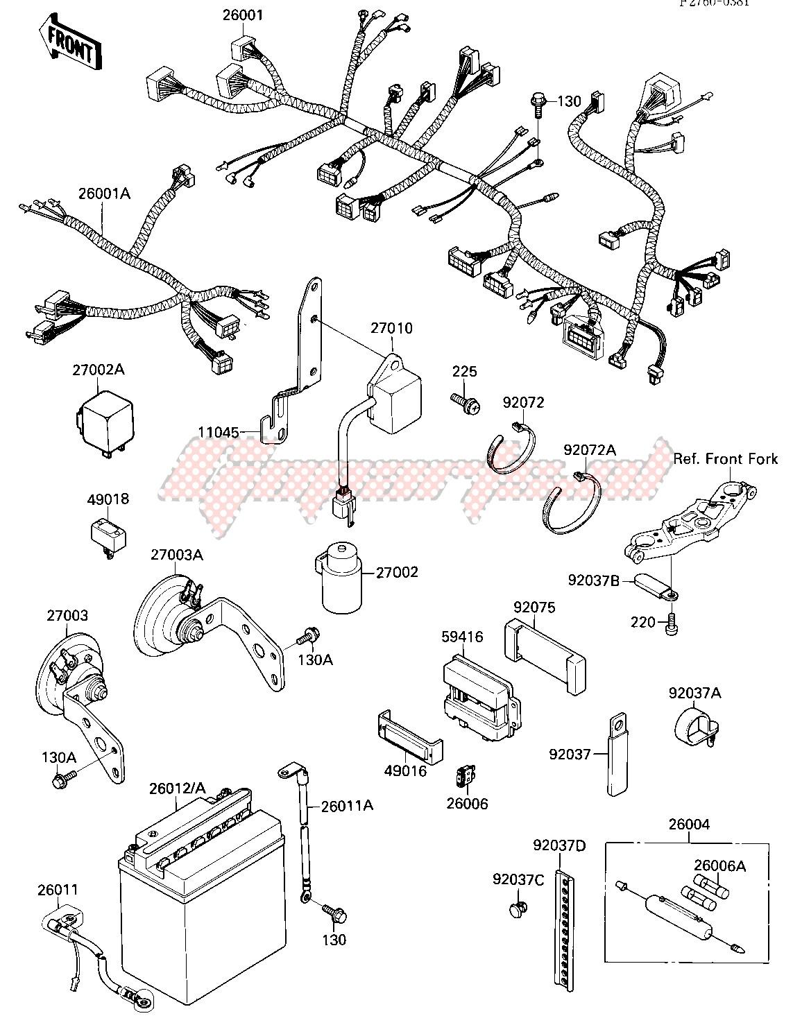 [SCHEMATICS_4LK]  OEM CHASSIS ELECTRICAL EQUIPMENT - (Kawasaki [Motorcycle] ZX 750 F [NINJA  750R] (F1-F3) [NINJA 750R] / 1989)   Goparts   Honda 750r Wiring Diagram      Goparts
