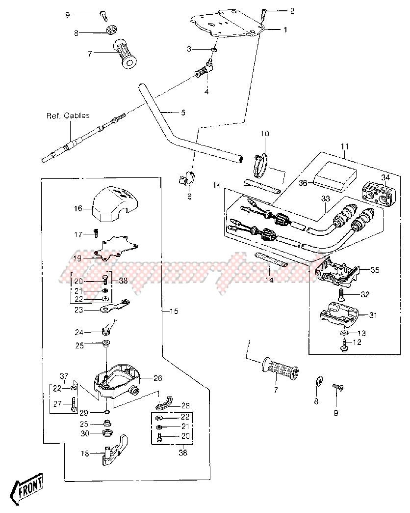 HANDLEBAR -- JS550-A6- - image