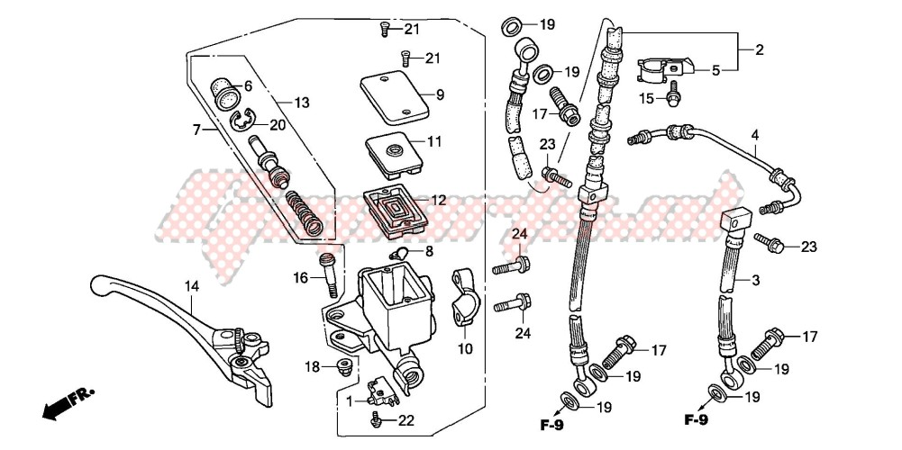 FR. BRAKE MASTER CYLINDER (CB600F2) blueprint