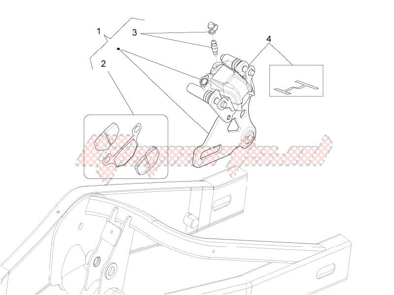 Rear brake caliper image