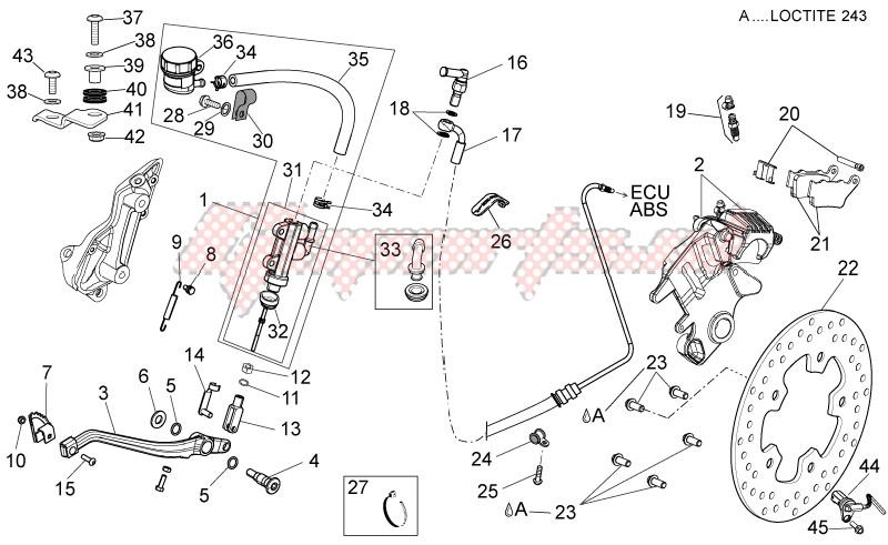 Rear brake system II image