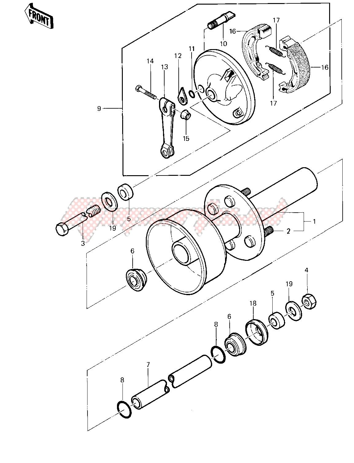 FRONT HUB_BRAKE -- 83 KLT200-A4_A4A- - image